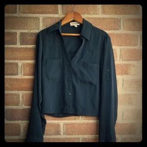 Express Portofino Cropped Shirt